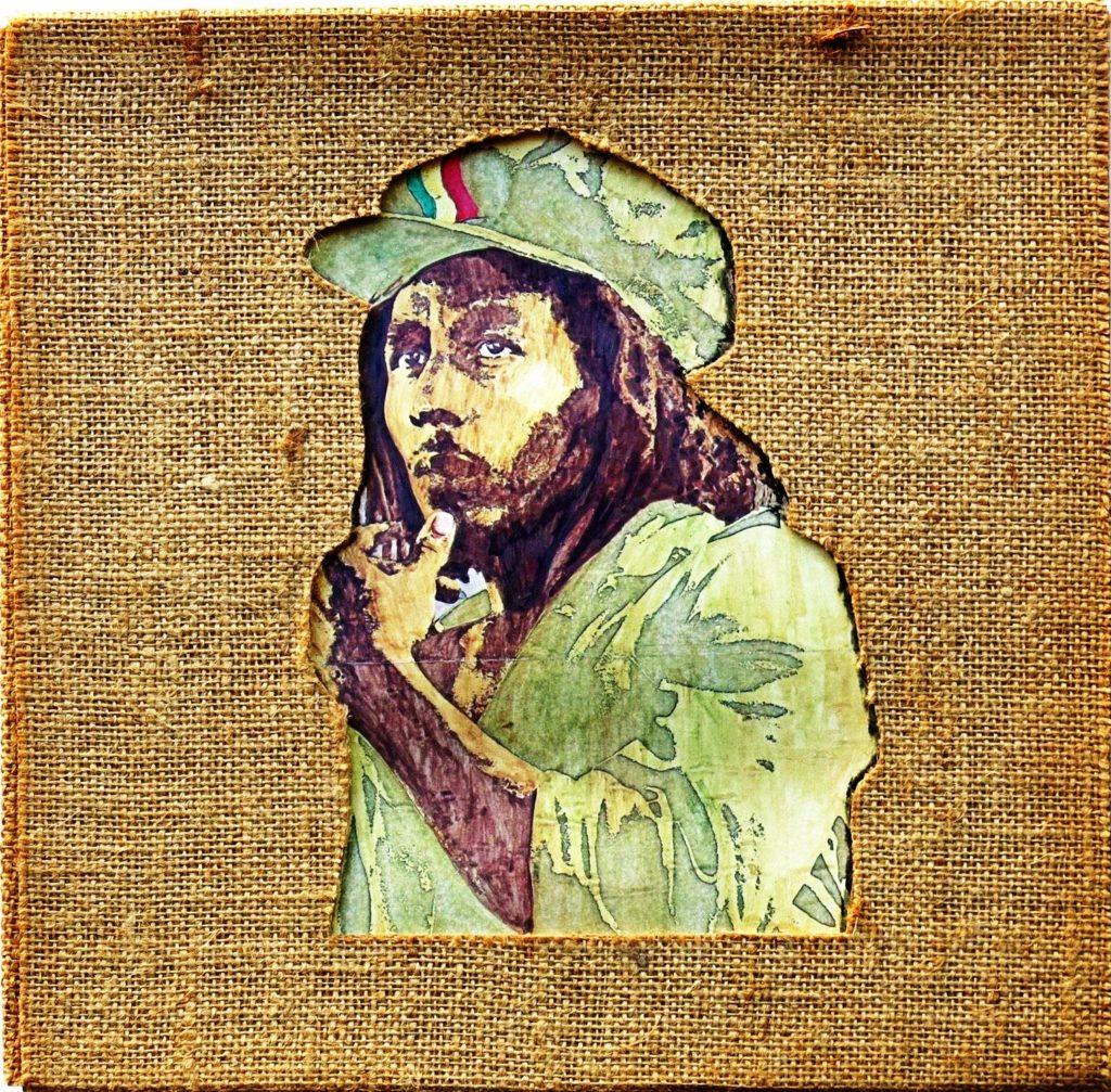 Official Bob Marley Smoking Da Erb Graphic T-Shirt Jamaica Legend Reggae Merch